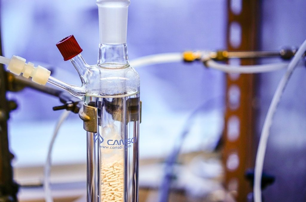 chemistry lab for aromaextraction